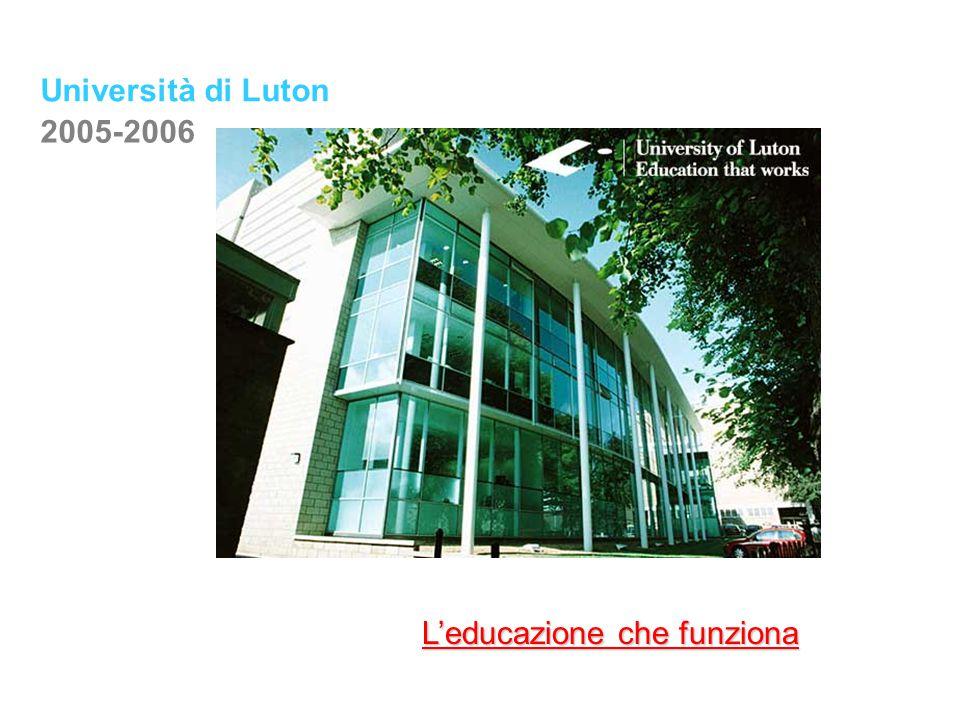 Università di Luton 2005-2006 L'educazione che funziona