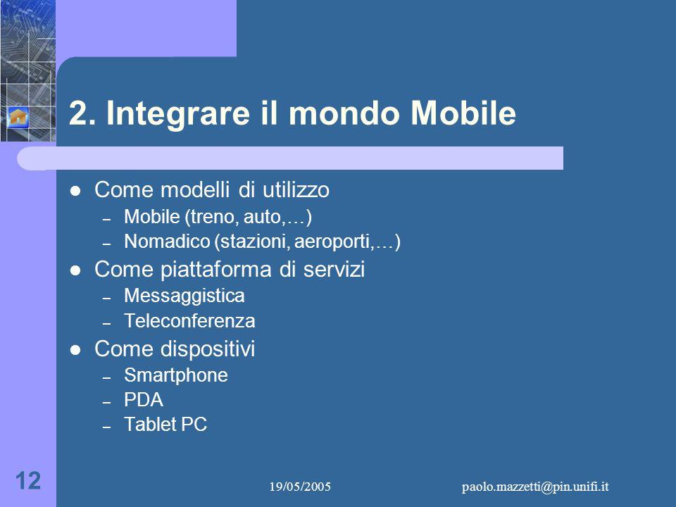 19/05/2005paolo.mazzetti@pin.unifi.it 12 2.
