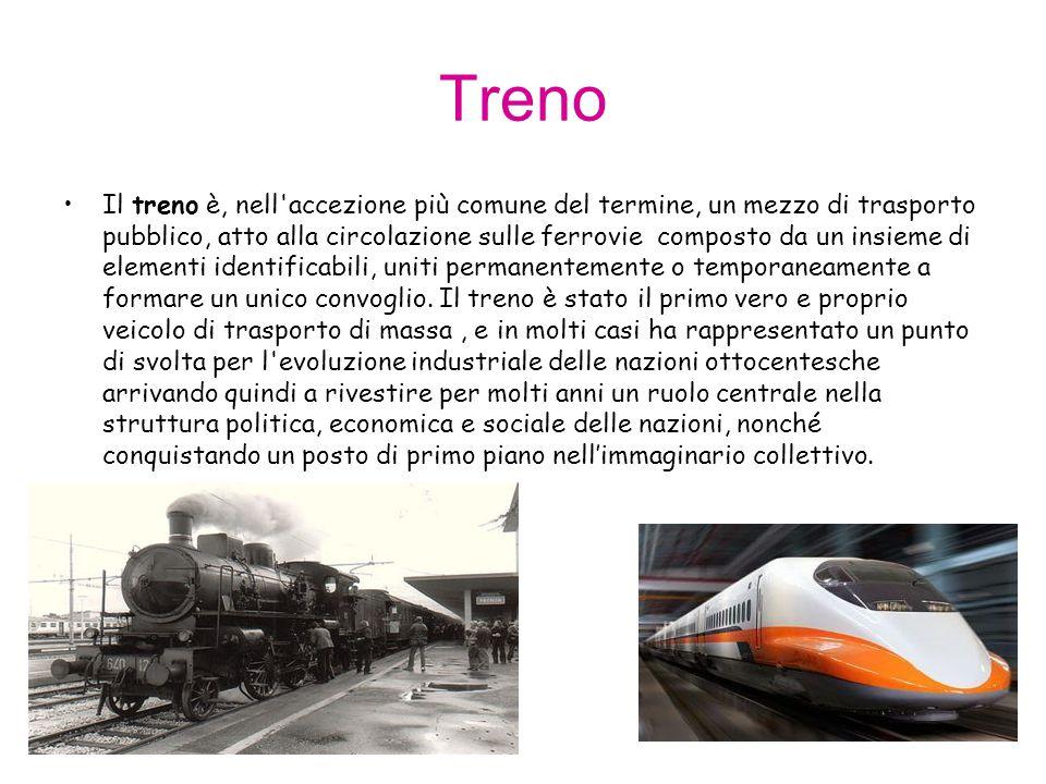 Treno Il treno è, nell'accezione più comune del termine, un mezzo di trasporto pubblico, atto alla circolazione sulle ferrovie composto da un insieme