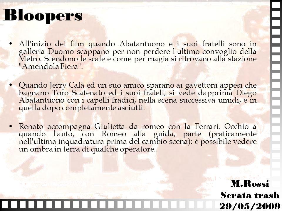 Bloopers All'inizio del film quando Abatantuono e i suoi fratelli sono in galleria Duomo scappano per non perdere l'ultimo convoglio della Metro. Scen