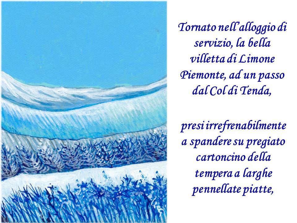 Fino a quel giorno avevo sempre dipinto i cieli tersi della mia Puglia, ed il mare e le barche dai colori un po' greci, vividi e pastellati.