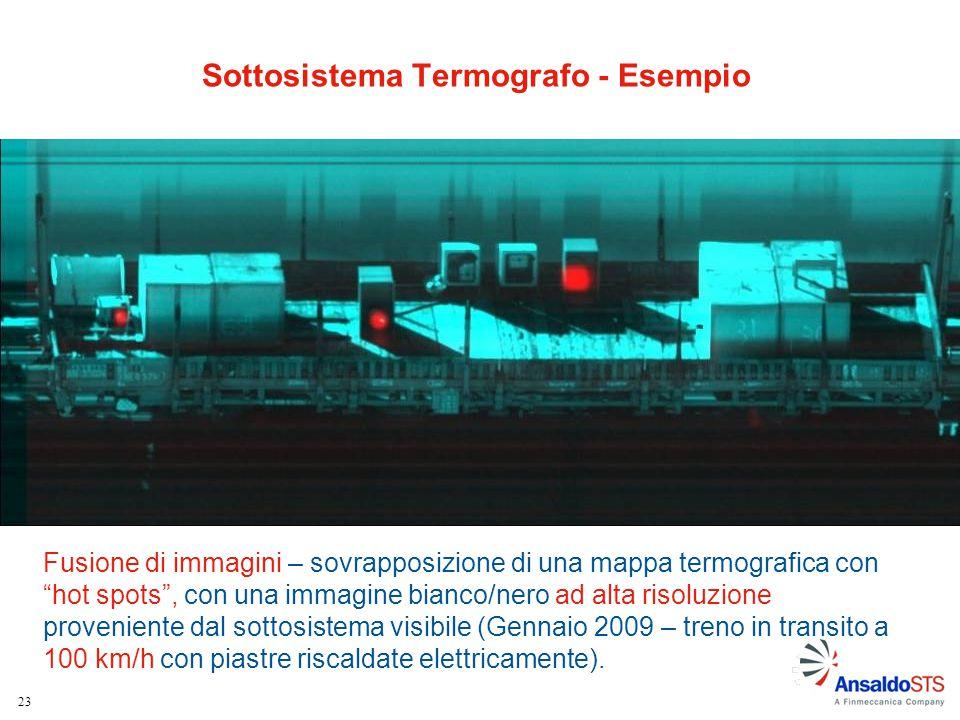 """23 Fusione di immagini – sovrapposizione di una mappa termografica con """"hot spots"""", con una immagine bianco/nero ad alta risoluzione proveniente dal s"""