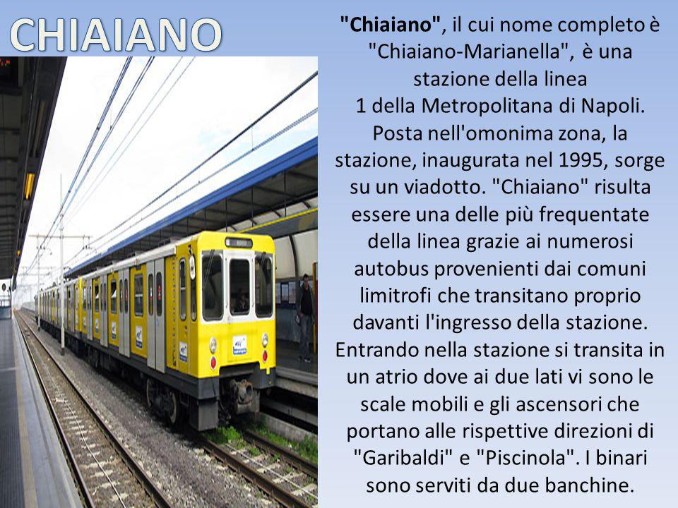 Chiaiano , il cui nome completo è Chiaiano-Marianella , è una stazione della linea 1 della Metropolitana di Napoli.