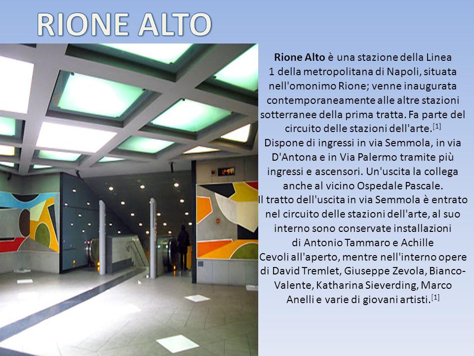 Rione Alto è una stazione della Linea 1 della metropolitana di Napoli, situata nell'omonimo Rione; venne inaugurata contemporaneamente alle altre staz