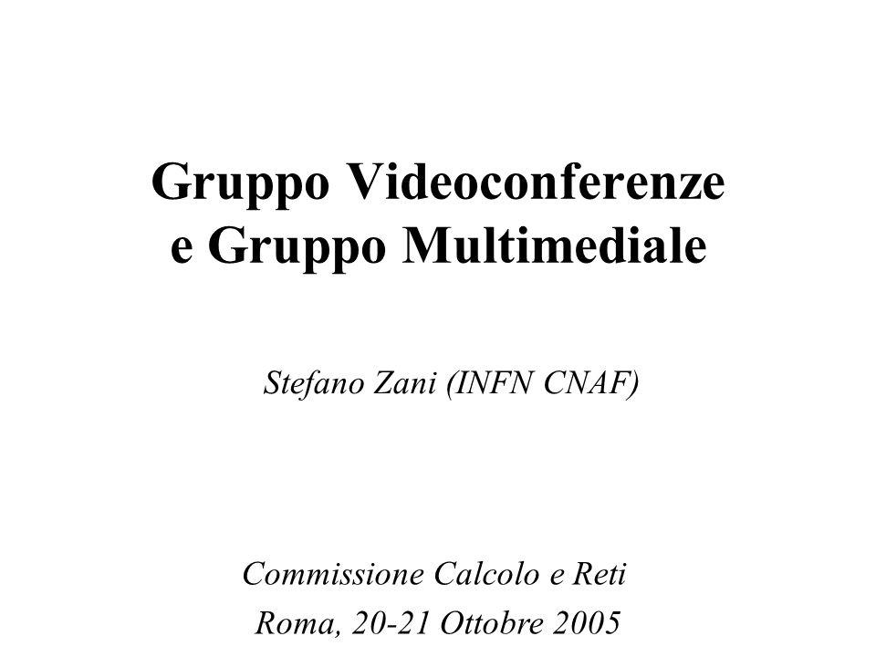 Gruppo Videoconferenze Descrizione generale E' il gruppo di riferimento per le applicazioni di audio/videoconferenza e multimediali dell'INFN.