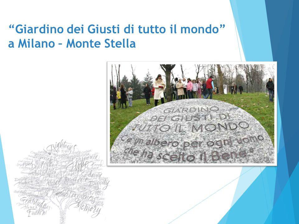 """""""Giardino dei Giusti di tutto il mondo"""" a Milano – Monte Stella"""