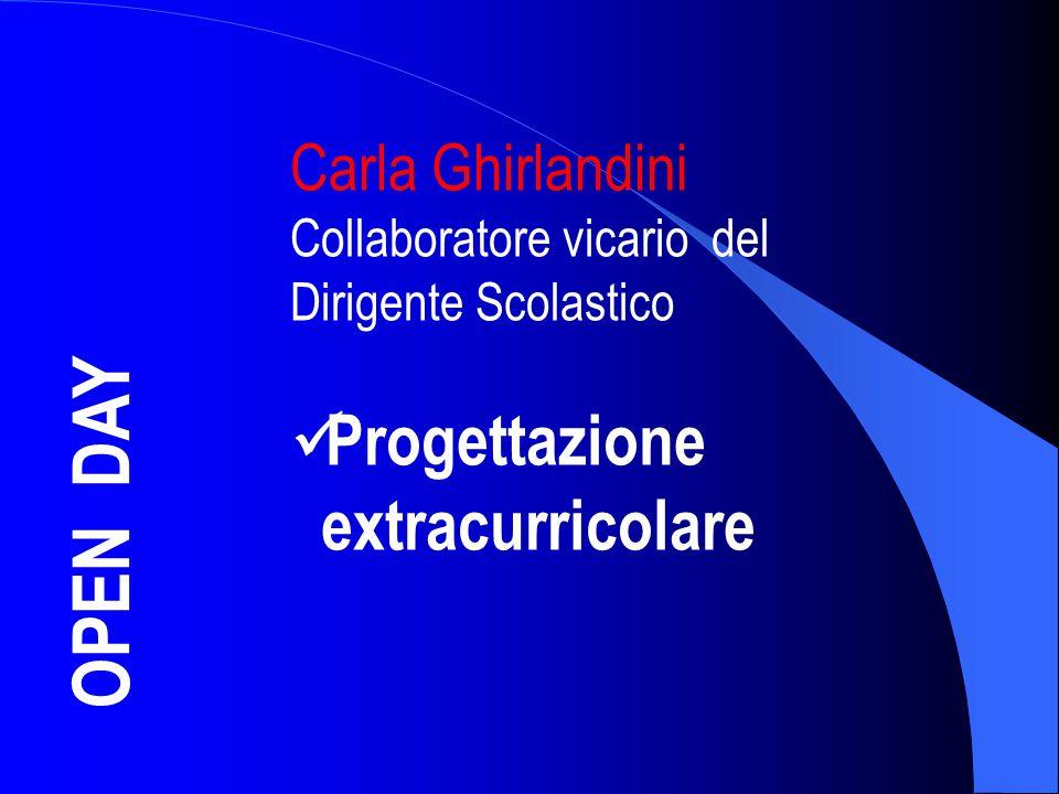 OPEN DAY Carla Ghirlandini Collaboratore vicario del Dirigente Scolastico Progettazione extracurricolare