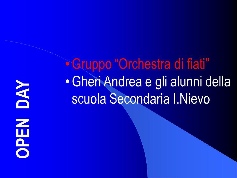 """OPEN DAY Gruppo """"Orchestra di fiati"""" Gheri Andrea e gli alunni della scuola Secondaria I.Nievo"""