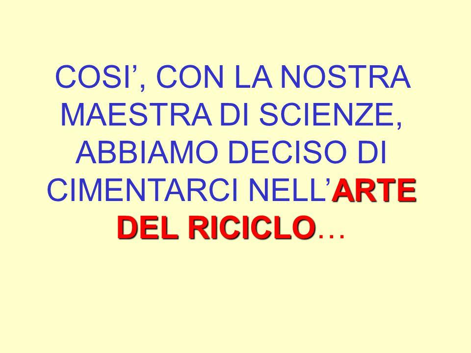 SIAMO RIMASTI MOLTO COLPITI DALLE OPRE D'ARTE REALIZZATE… CON IL RICICLO DI MATERIALE DI RIFIUTO!!!