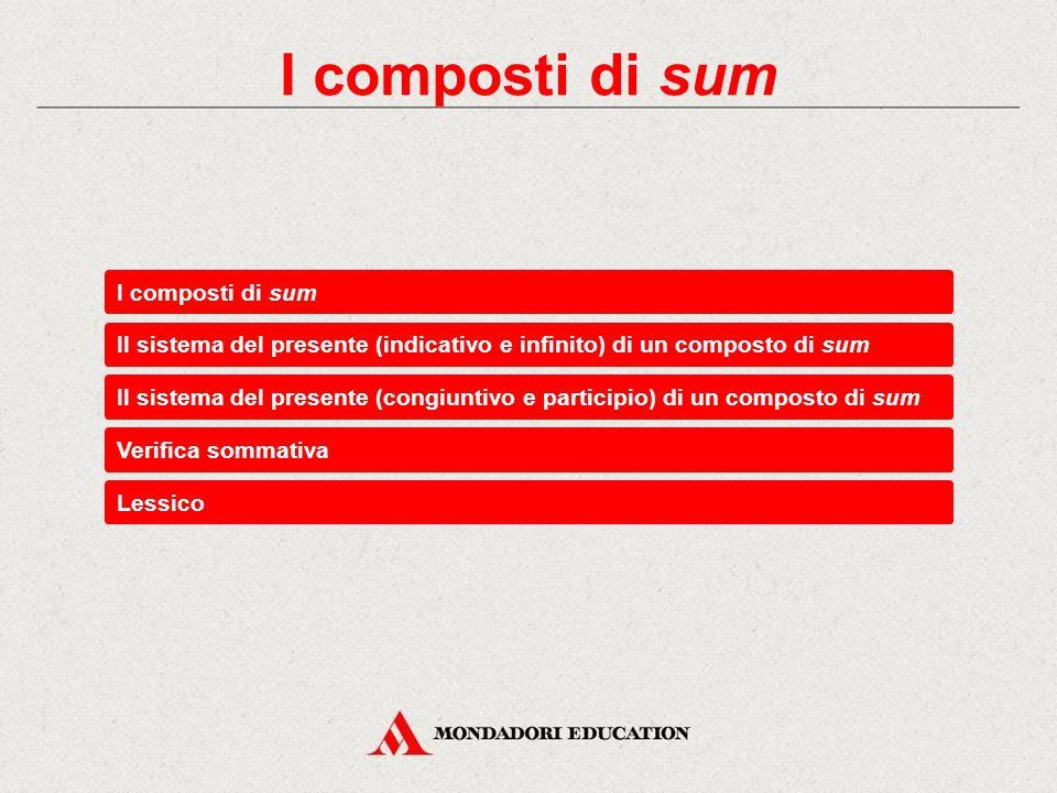 Verifica sommativa Esercizi di consolidamento Traduci la forma deerunt.