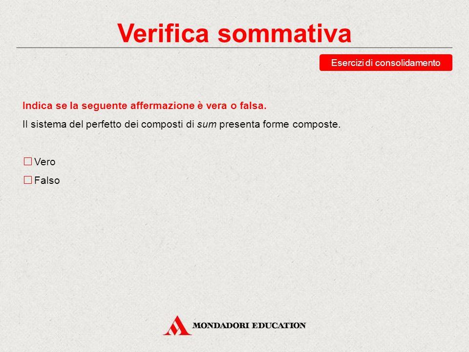 Verifica sommativa Esercizi di recupero Traduci la forma potueramus.