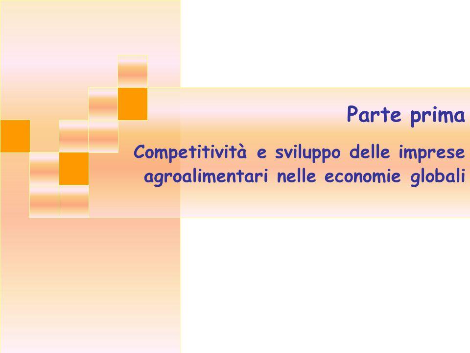 Parte prima Competitività e sviluppo delle imprese agroalimentari nelle economie globali