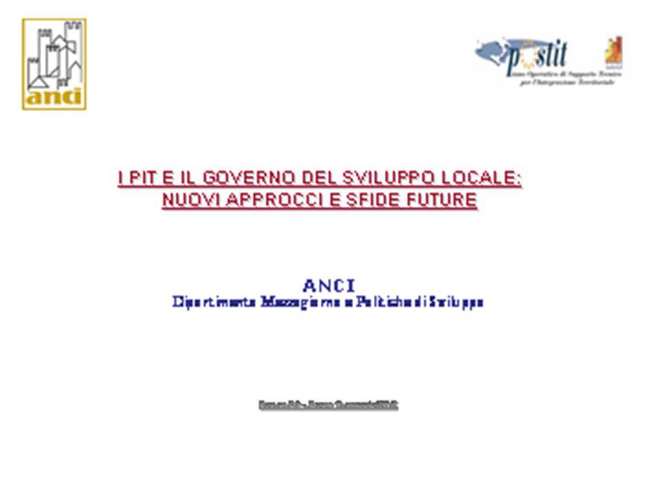 Il progetto ANCI-POSTIT Un bilancio del primo biennio di attuazione 2003-2004