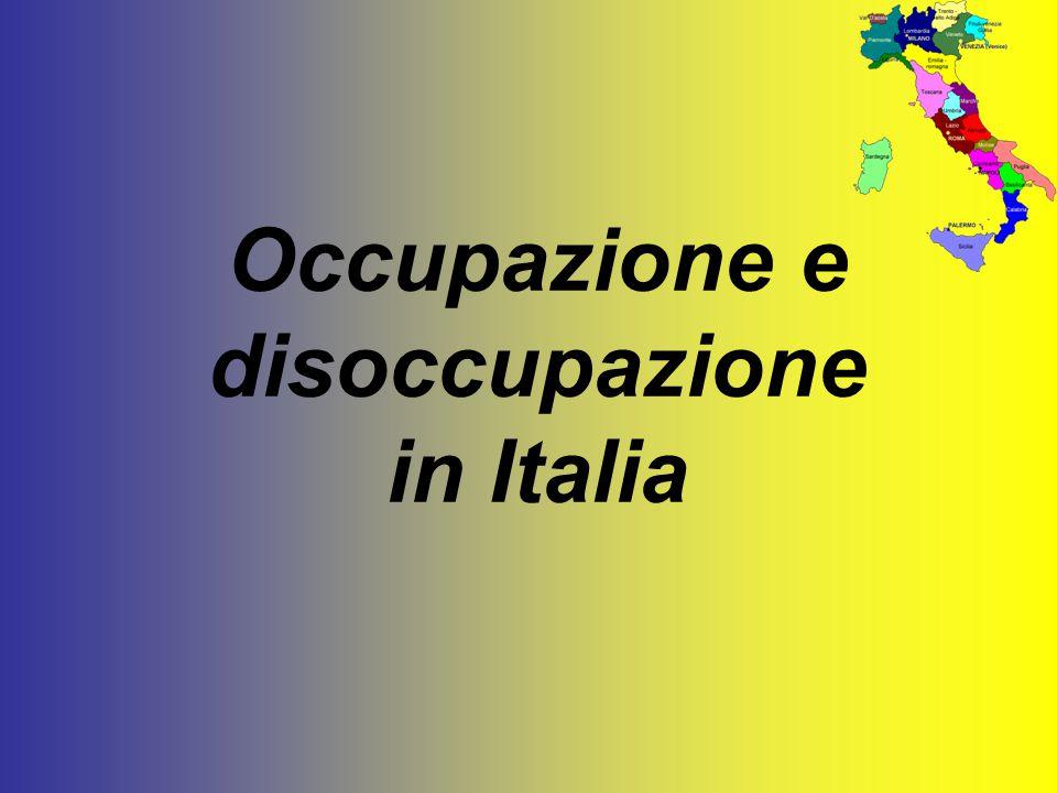 Occupazione e disoccupazione in Italia