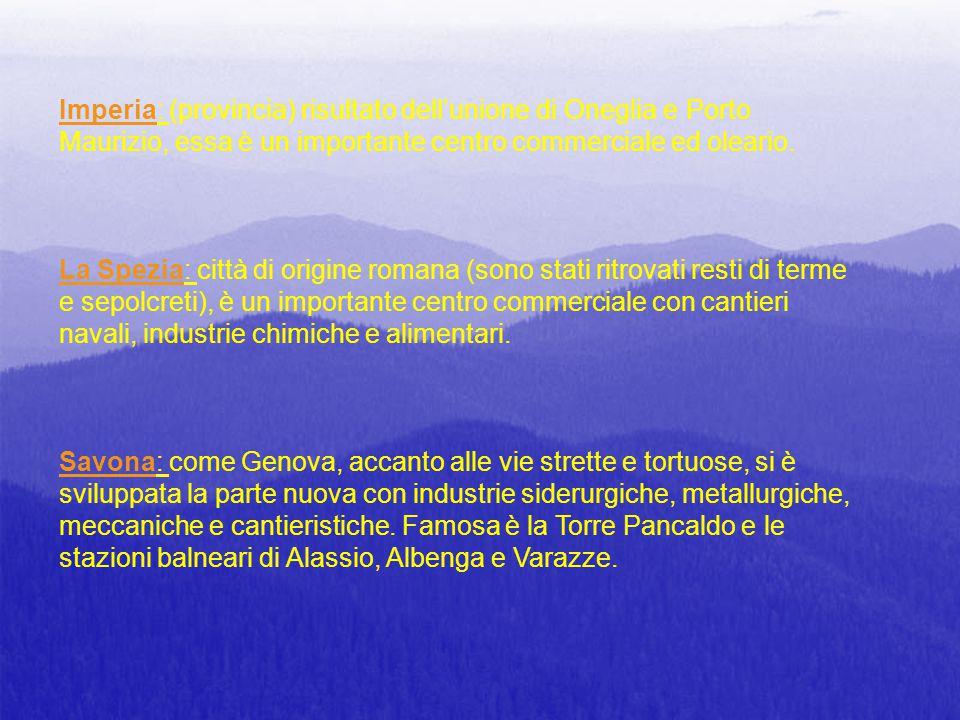 CURIOSITA' Il nome Liguria, di origine antichissima, deriva dai Liguri che furono i primi abitatori di una regione molto vasta che andava dal Rodano all'Arno.