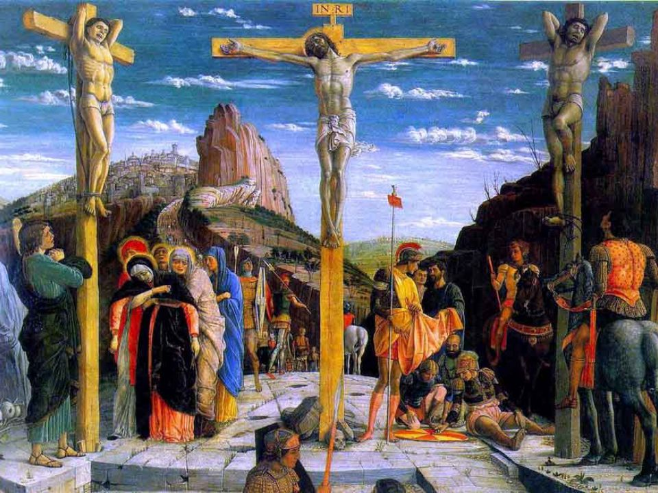 Alle tre, Gesù gridò a gran voce: « Eloì, Eloì, lemà sabactàni.