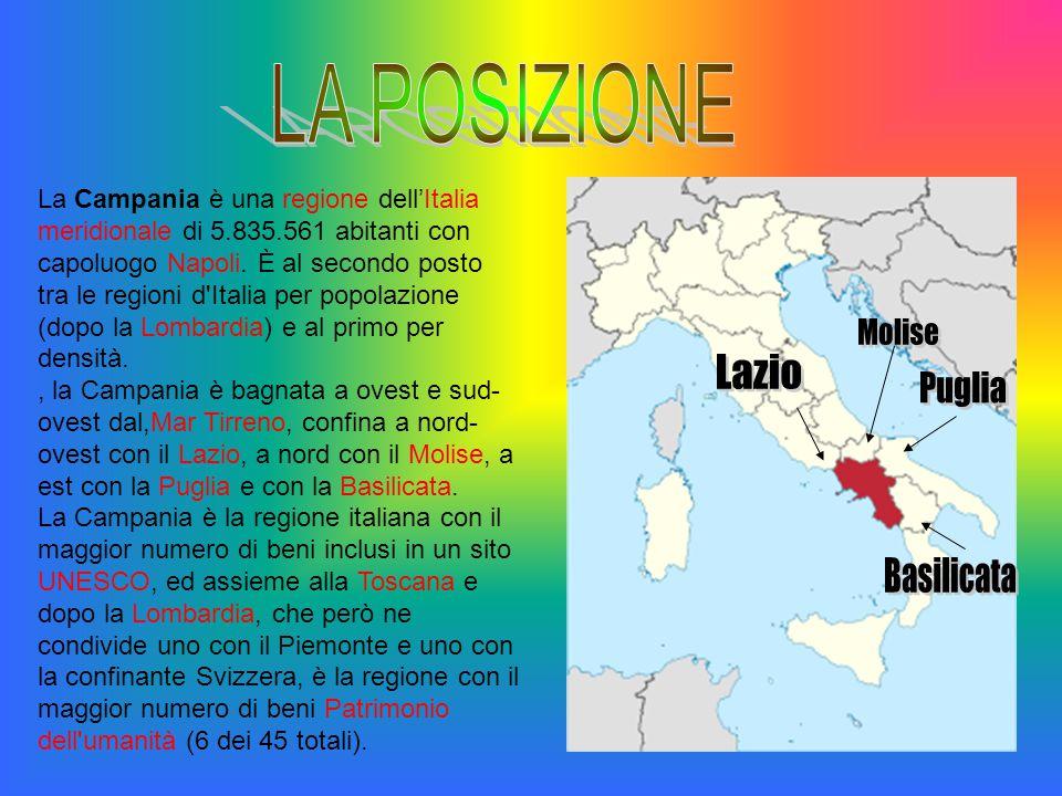 La Campania è una regione dell'Italia meridionale di 5.835.561 abitanti con capoluogo Napoli. È al secondo posto tra le regioni d'Italia per popolazio