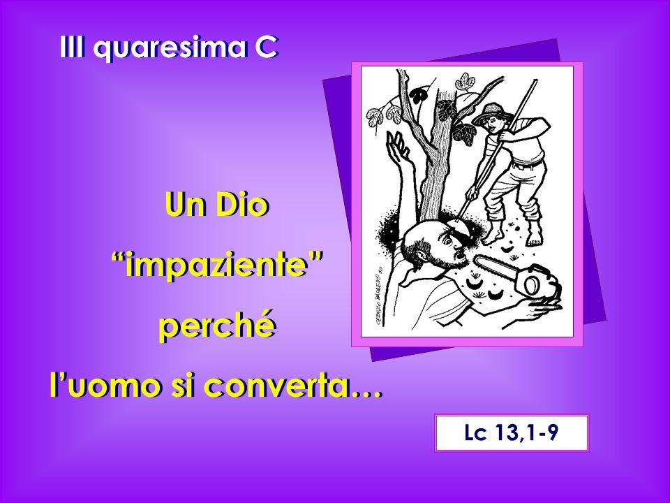 Lc 13,1-9 Un Dio impaziente perché l'uomo si converta… III quaresima C