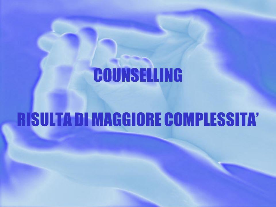 COUNSELLING RISULTA DI MAGGIORE COMPLESSITA'