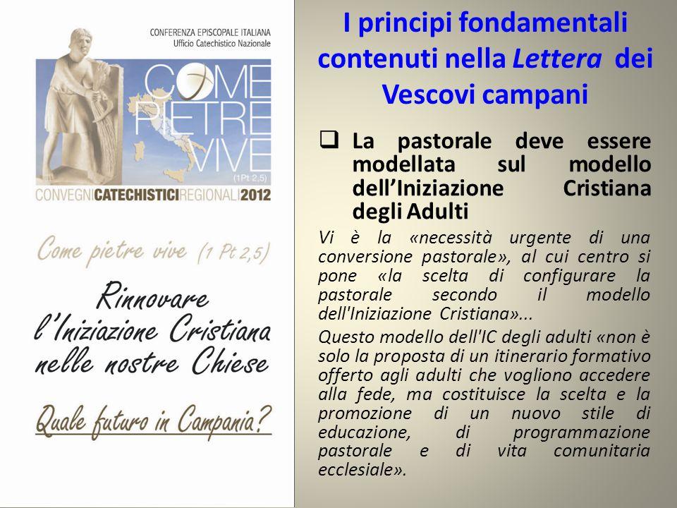 I principi fondamentali contenuti nella Lettera dei Vescovi campani  La pastorale deve essere modellata sul modello dell'Iniziazione Cristiana degli