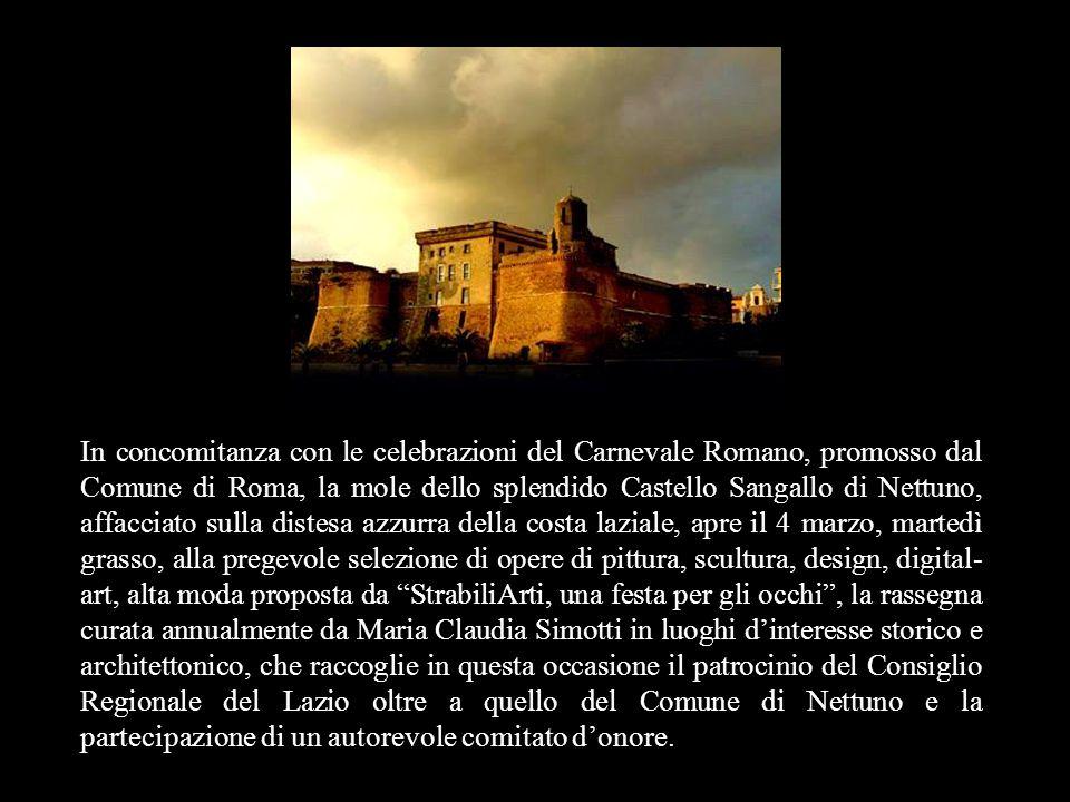 In concomitanza con le celebrazioni del Carnevale Romano, promosso dal Comune di Roma, la mole dello splendido Castello Sangallo di Nettuno, affacciat