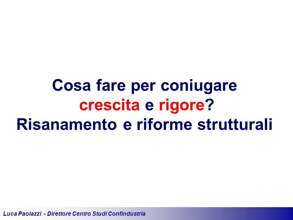 Luca Paolazzi - Direttore Centro Studi Confindustria Cosa fare per coniugare crescita e rigore.