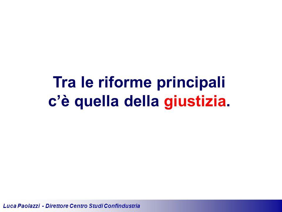 Luca Paolazzi - Direttore Centro Studi Confindustria Tra le riforme principali c'è quella della giustizia.