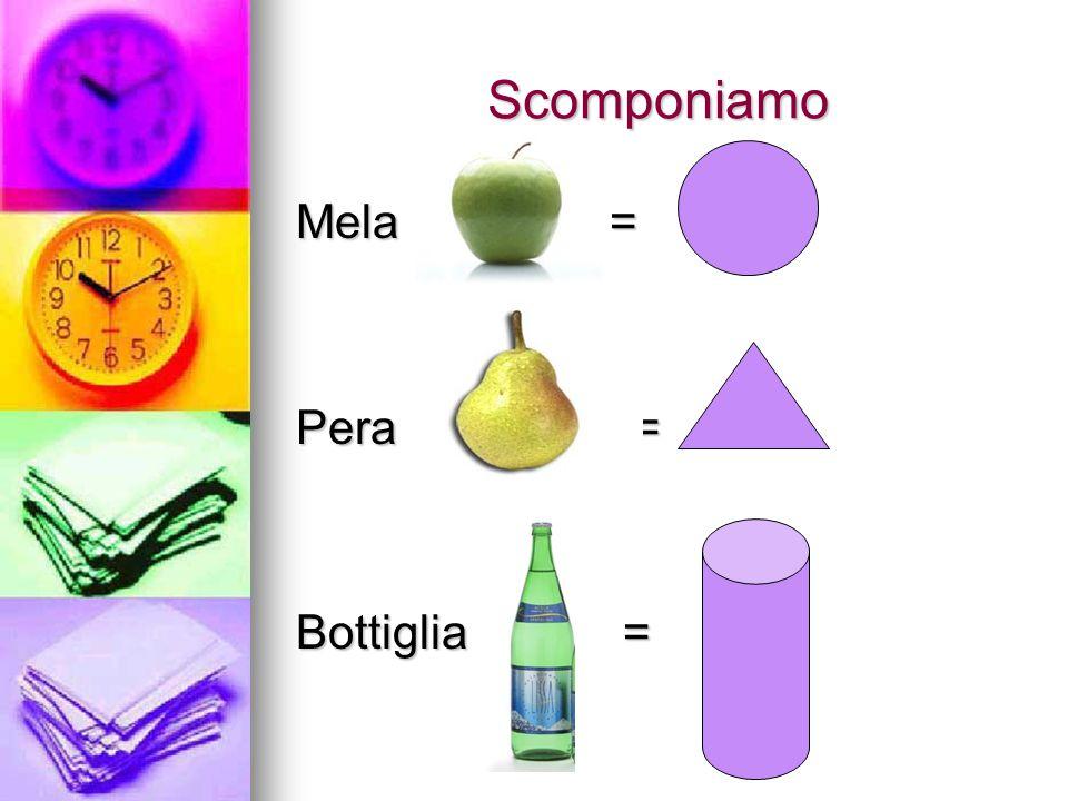Scomponiamo Mela = Pera = Bottiglia =
