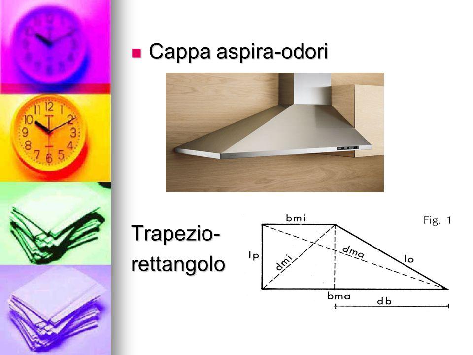 Cappa aspira-odori Cappa aspira-odoriTrapezio-rettangolo
