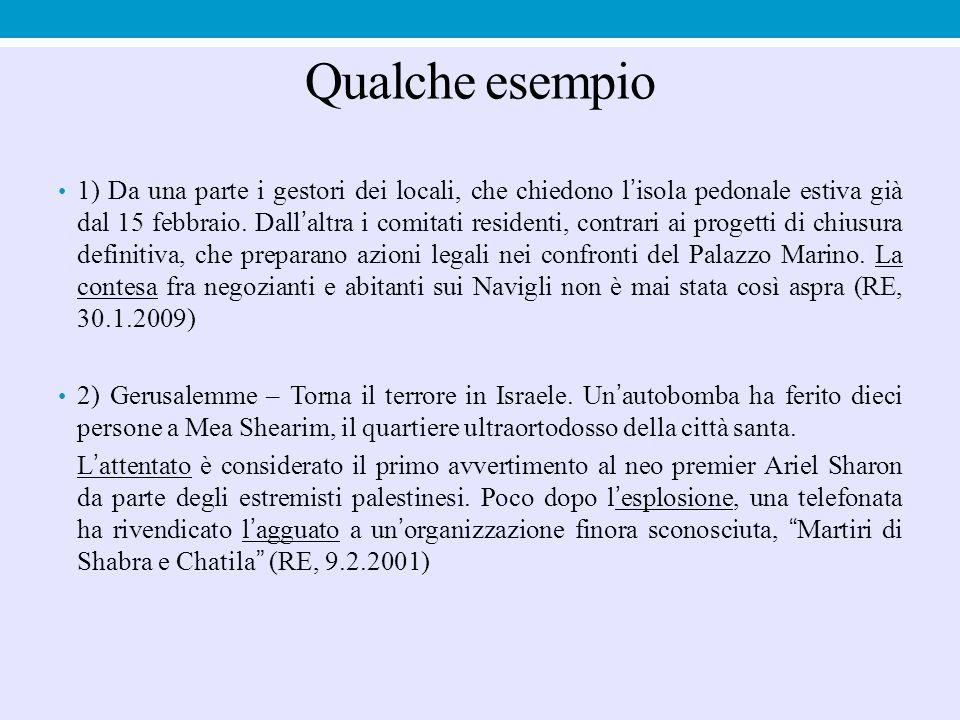 Analogo discorso per il sostantivo esecuzione: Servizio sulla missionaria Annalena Tonelli in Somalia: Un'esecuzione ancora senza un perché (Tg1, h 20.00, 6.10.2003) Assassinio a Bologna del prof.