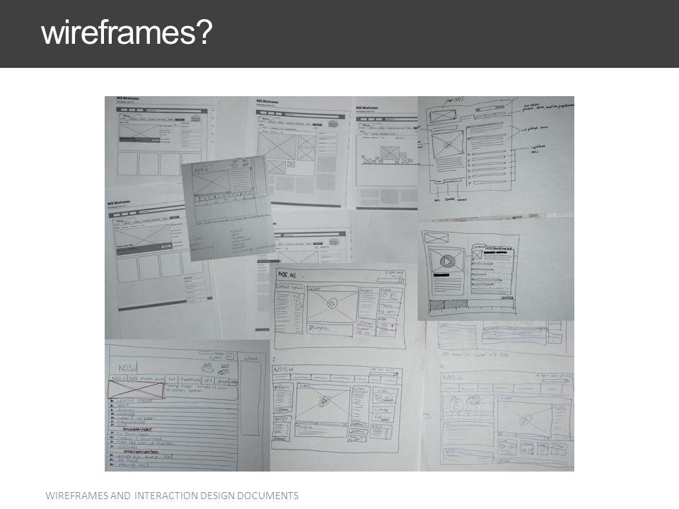 I wireframe sono estremamente statici Sono sostanzialmente delle radiografie di come sarà il sito finito dal punto di vista strutturale e comunicativo.