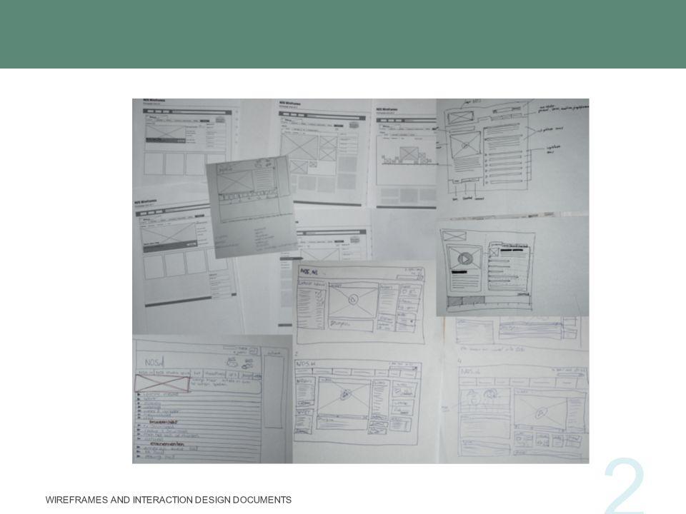 Obiettivi dei wireframes Individuare soluzioni a problemi di progettazione Comunicare le scelte principali di progettazione Fare in modo che tutti (sviluppatori, progettisti e committenti) si concentrino sugli stessi problemi WIREFRAMES AND INTERACTION DESIGN DOCUMENTS 13