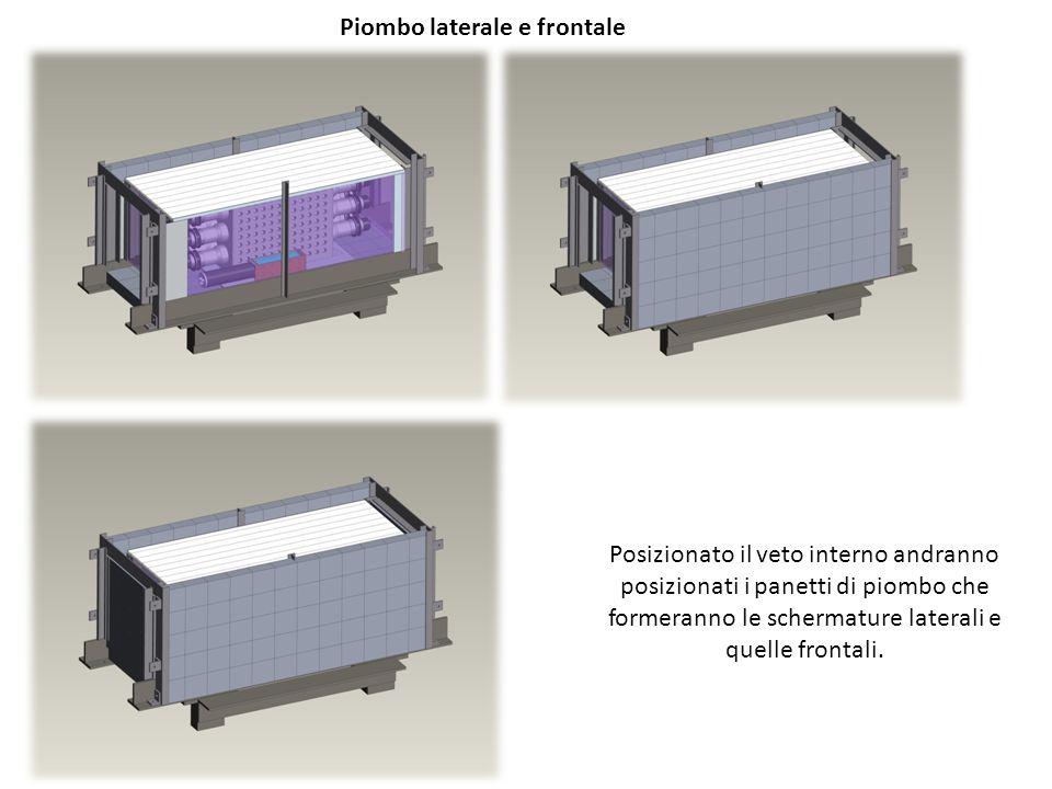 Posizionato il veto interno andranno posizionati i panetti di piombo che formeranno le schermature laterali e quelle frontali.