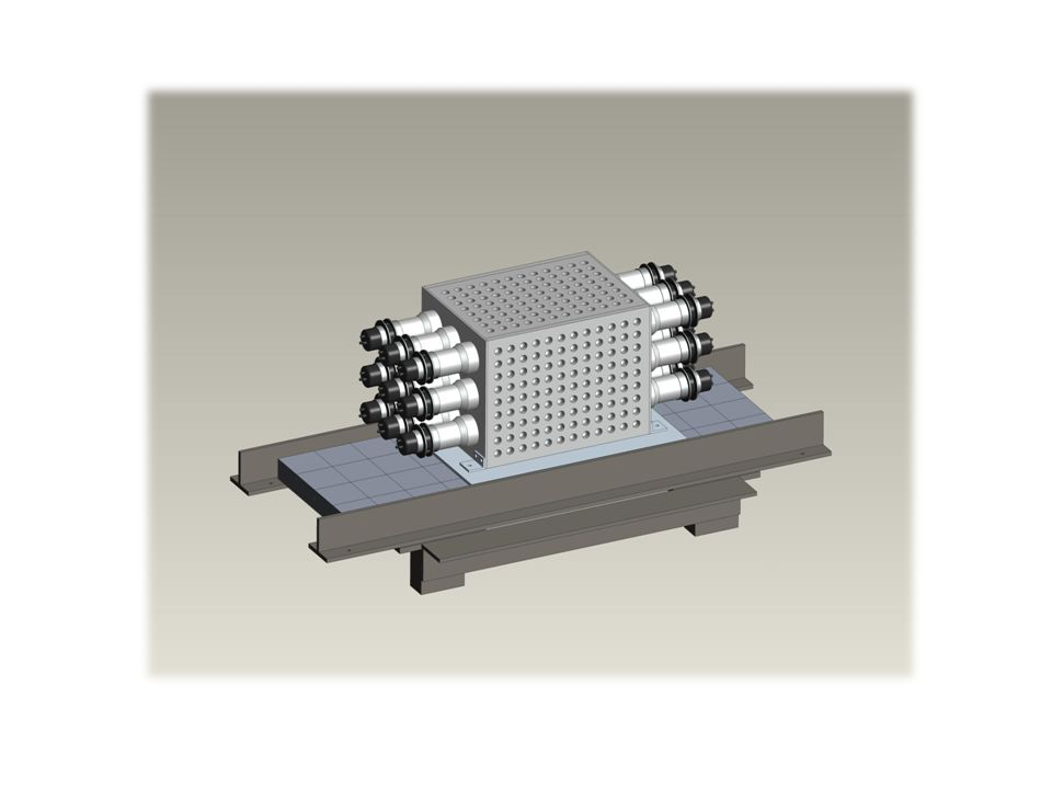 A contatto con con Cormorino verra' posizionato un altro rilevatore composto da 16 cristalli, letto da un fototubo.