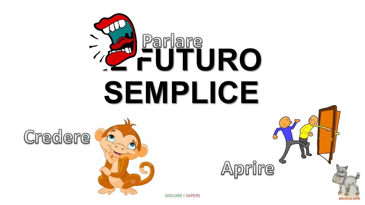 IL FUTURO SEMPLICE GIOCARE E SAPERE
