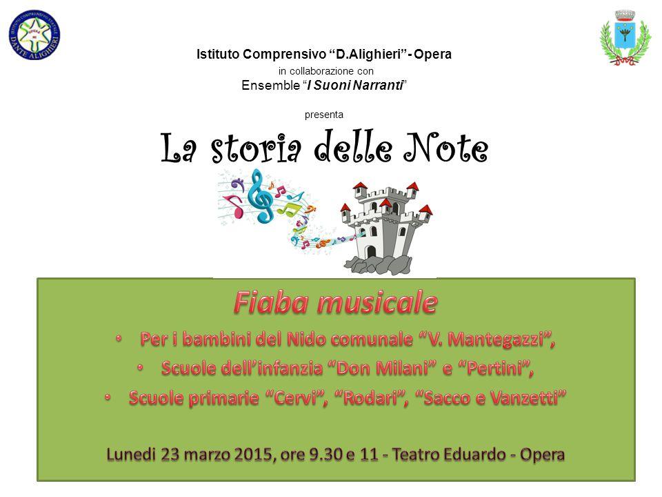 Istituto Comprensivo D.Alighieri - Opera in collaborazione con Ensemble I Suoni Narranti presenta La storia delle Note