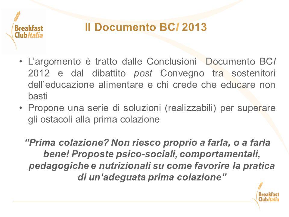 L'argomento è tratto dalle Conclusioni Documento BCI 2012 e dal dibattito post Convegno tra sostenitori dell'educazione alimentare e chi crede che edu