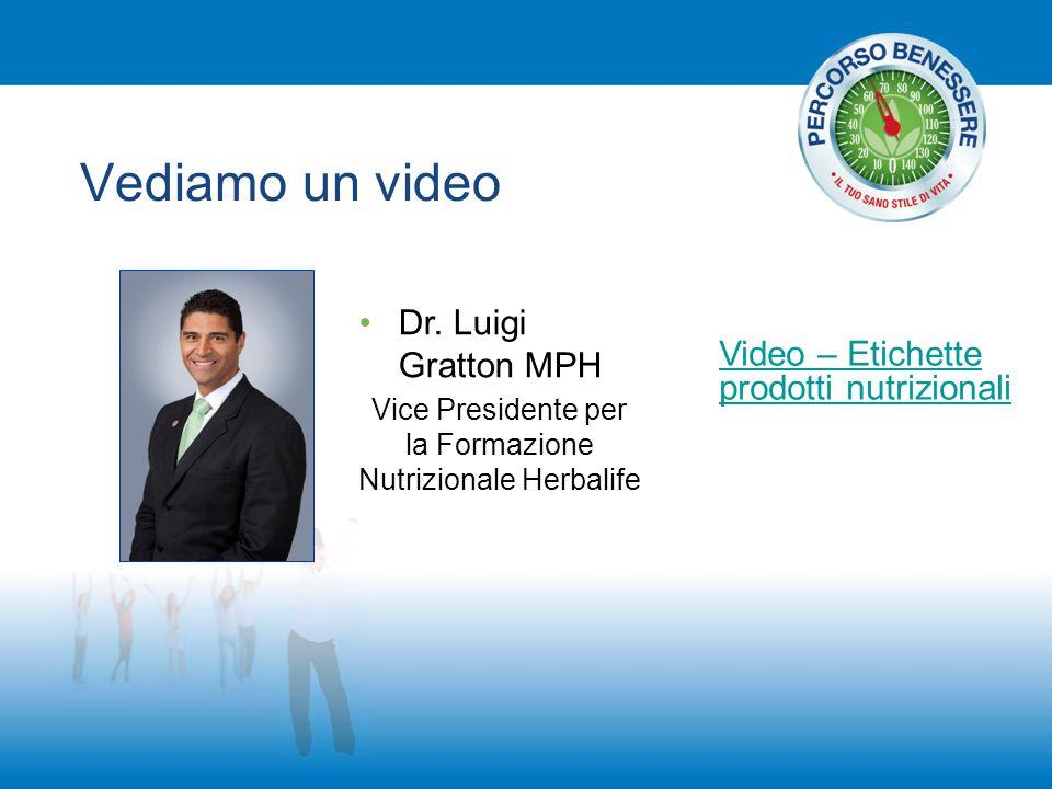 Vediamo un video Dr. Luigi Gratton MPH Vice Presidente per la Formazione Nutrizionale Herbalife Video – Etichette prodotti nutrizionali