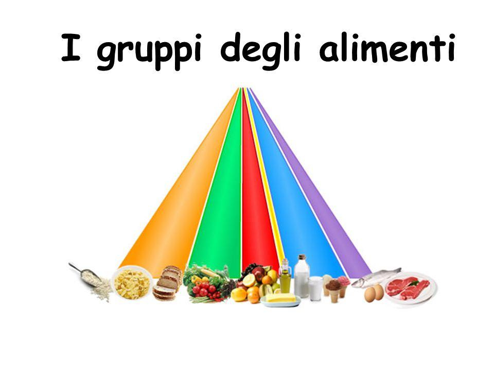 I gruppi degli alimenti