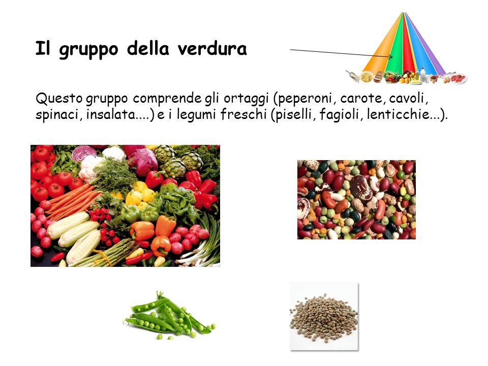Il gruppo della frutta Questo gruppo comprende la frutta (mele, pere, fragole, kiwi...).