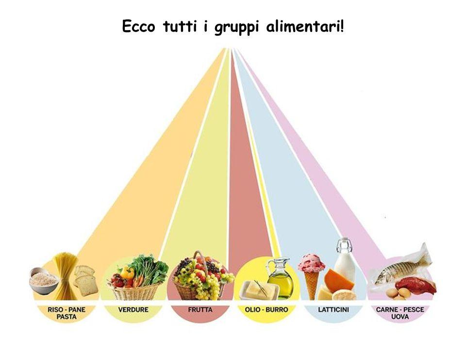 Ecco tutti i gruppi alimentari!