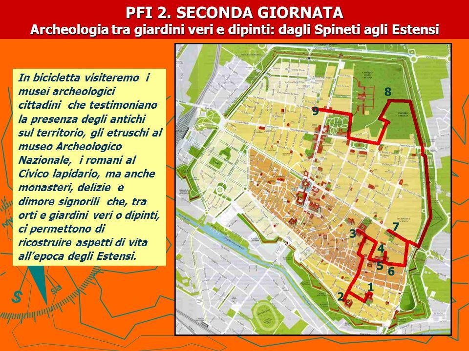 PFI-2.PERCORSO DI VISITA in bicicletta MATTINA: 1.