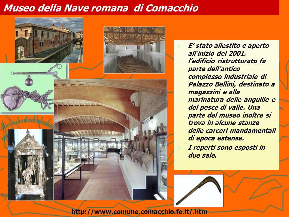 Museo delle Culture Umane del Delta del Po IL contenitore: l'Ospedale degli innocenti è una preziosa testimonianza, l'unica a Comacchio, del Neoclassicismo, fu eretto tra il 1778 e il 1784 su volere di papa Clemente XIV.