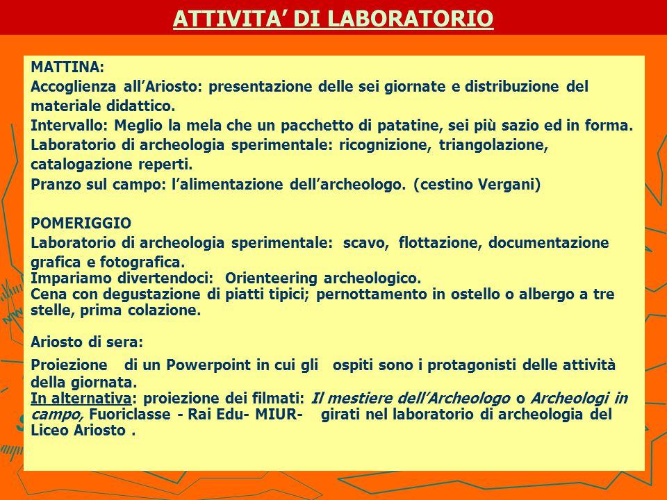 RICOGNIZIONE TERRITORIALE http://www.liceoariosto.it/identità/progetto/lda