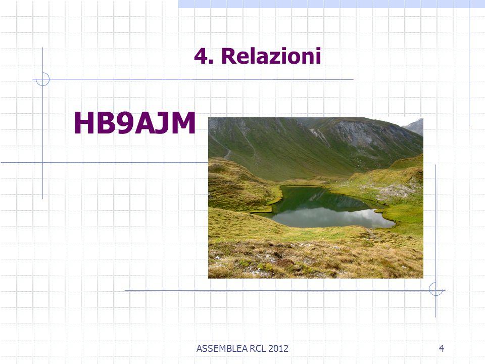 ASSEMBLEA RCL 20124 4. Relazioni HB9AJM