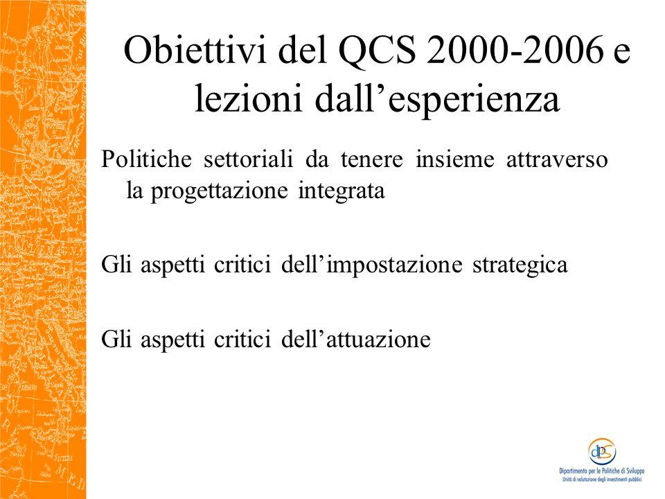 Analisi valutative per contribuire alle le strategie 2007-2013 Gruppo di lavoro del QCS Ob.