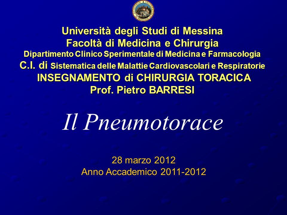 Università degli Studi di Messina Facoltà di Medicina e Chirurgia Dipartimento Clinico Sperimentale di Medicina e Farmacologia C.I.