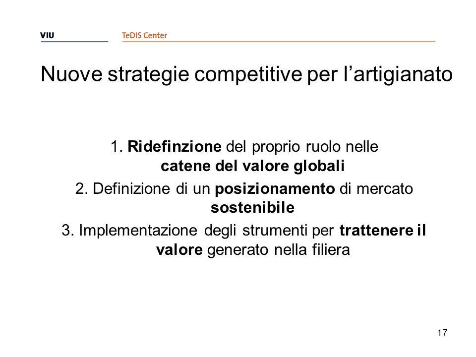 Nuove strategie competitive per l'artigianato 1.