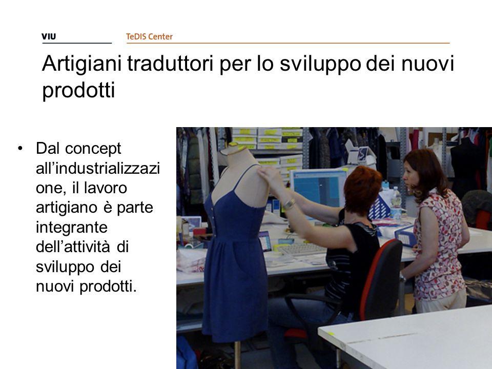 Artigiani traduttori per lo sviluppo dei nuovi prodotti Dal concept all'industrializzazi one, il lavoro artigiano è parte integrante dell'attività di sviluppo dei nuovi prodotti.