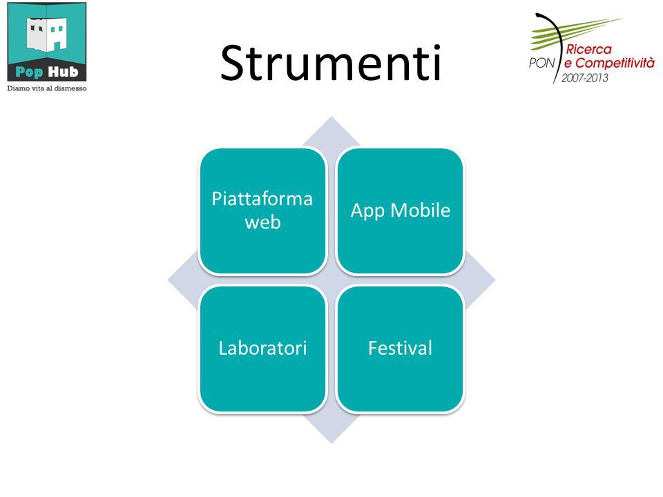 Strumenti Piattaforma web App MobileLaboratoriFestival